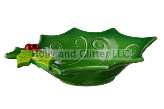 Christmas Holly & Berries Bowl, Small