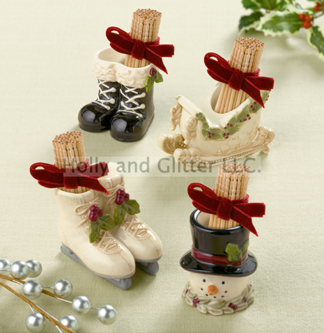 Christmas Holiday Toothpick Holder, 3 To Choose From, Free Shipping!!