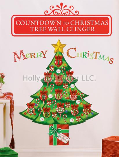 Christmas Tree Countdown To Christmas Wall Cling
