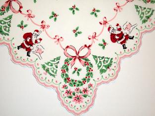 Classic Christmas Santa Handkerchief