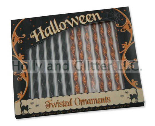 Halloween Twisted Icicle Ornaments, Bethany Lowe