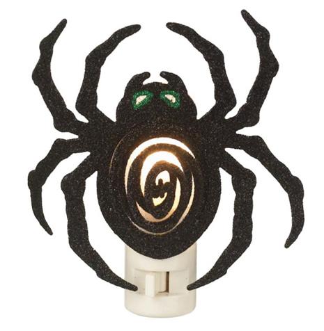 Glittery Spider Night Light