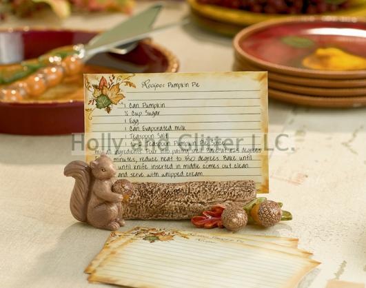 Squirrel Recipe Card Holder & Recipe Cards Gift Set