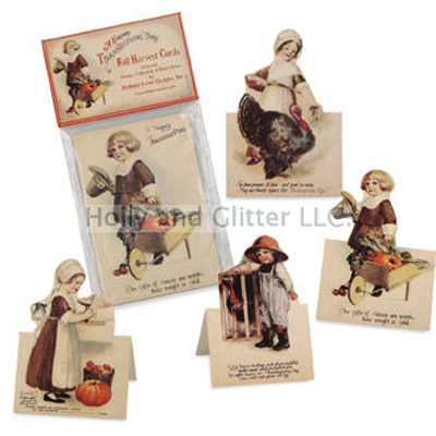 Fold Out Cards,  A Happy Thanksgiving Fall Harvest Cards, Bruce Elsass For Bethany Lowe, Free Shipping!