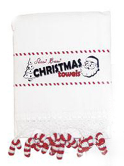 Candy Cane Kitchen Towels, Set Of 2