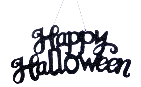Halloween Sign, Black