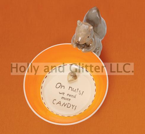 Harvest Time Squirrel Nut Dish