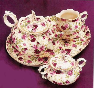 Victorian Floral Tea Set