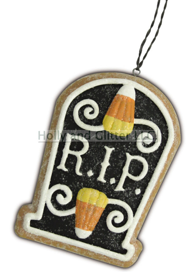 Halloween Gingerbread Cookie Ornaments, Tombstone-RIP, Lee Walker Shepherd, Bethany Lowe, Free Shipping!!