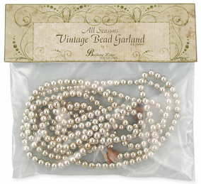 All Seasons Vintage Silver Garland, 6ft, Bethany Lowe