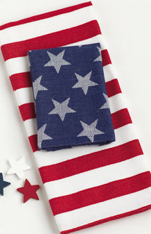 American Stars & Stripes Dishtowel & Dishcloth 2 Piece Set,