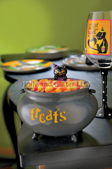 Halloween Black Cat Candy Bowl