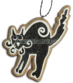 Halloween Gingerbread Cookie Ornament, Black Cat, Lee Walker Shepherd, Bethany Lowe, Free Shipping!!