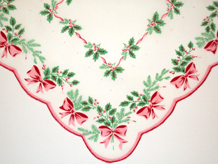 Boughs Of Holly Christmas Handkerchief