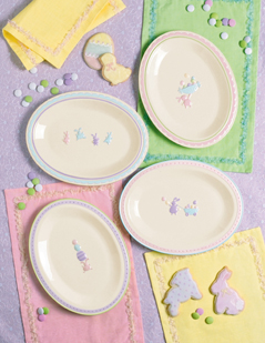 Bunny Hop Dessert Plates, Set Of 4