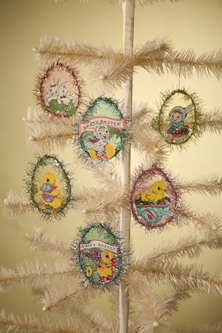 Retro Cellophane Egg Ornament, Bethany Lowe, Set of 6