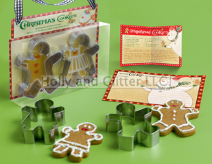 Christmas Gingerbread Man Gift Set, Cookie Cuttter, Free Shipping!!!