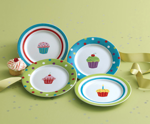 Cupcake Appetizer Plates, Set of 4