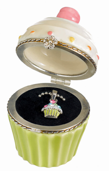 Cupcake Trinket Box With Cupcake Necklace, In Stock!