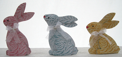 Easter Bunnies, Set of 3