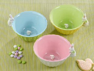 Easter Bunny Peek-a-boo Candy Dish Bowls