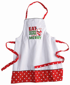Eat, Drink & Be Merry Christmas Apron