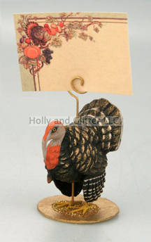 Fall Festival Turkey Place Card Holder, Bethany Lowe, Set Of 4