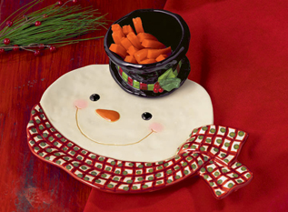 Frederick The Snowman Chip & Dip Set