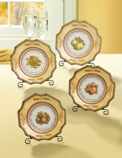 Heritage Accent Dessert  Or Salad Plates, Set Of 4