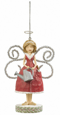 Gardening Angel Ornament, I love Gardening
