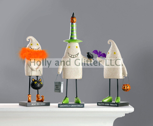 Halloween Ghost Figurines, Set Of 3