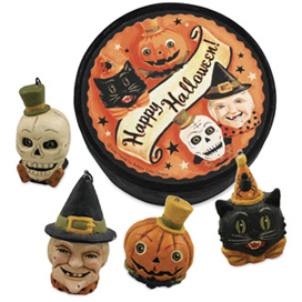 Happy Halloween Boxed Ornaments, Greg Guedel, Set Of 4