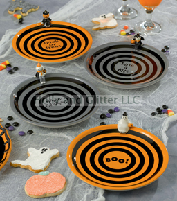 Halloween Monster Appetizer Plates, Set Of 4