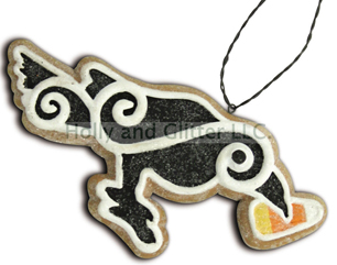Halloween Gingerbread Cookie Ornaments, Crow, Lee Walker Shepherd, Bethany Lowe,Free Shipping!