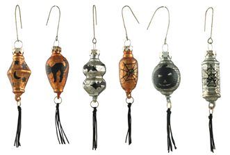 Halloween Lantern Ornaments, Bethany Lowe, Set of 6