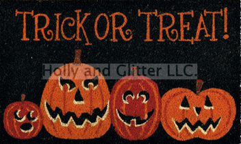 Halloween Trick Or Treat Coir Doormat