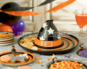 Halloween Witch Hat Chip & Dip
