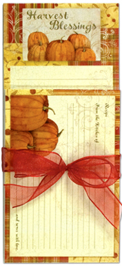 Harvest Gift Set, Recipe Cards, Notepad, Magnetic