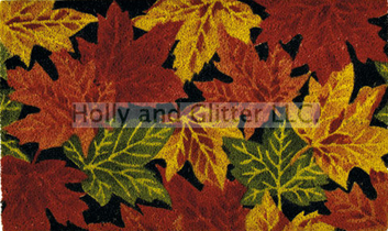Harvest Leaves Coir Doormat