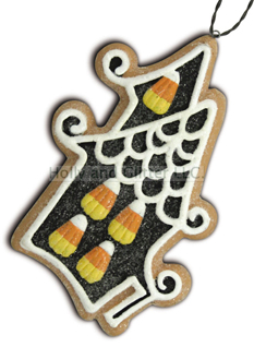 Halloween Gingerbread Cookie Ornament, Haunted House, Lee Walker Shepherd, Bethany Lowe, Free Shipping!