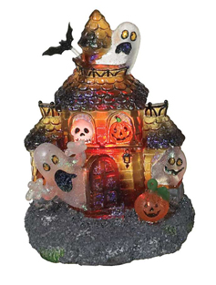 Halloween Haunted House Flicker Night Light