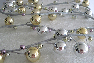 Luster Garland, Gold, Silver & Pink, 8 Feet