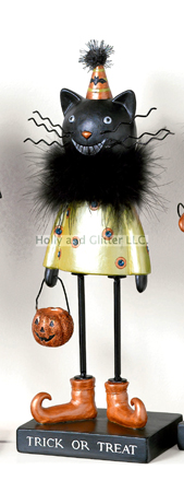 Miss Kitty Halloween Trick Or Treat Figurine