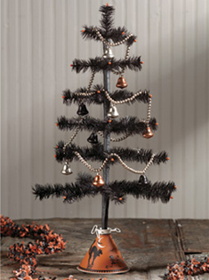 Nostalgic Black Feather Tree, Bethany Lowe, 28""