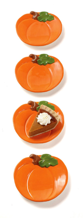 Pumpkin Appetizer Plates, Set Of 4