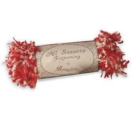 Red & Ivory Tissue Paper Garland, 9 Feet, Bethany Lowe