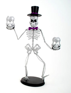 "Skeleton Tea Light Holder, 16.5"", Style B"