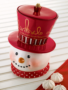Mr. Beasley Snowman Cookie Jar