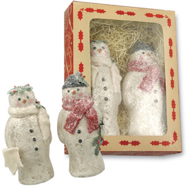 Snowman Couple In a Box, Teena Flanner