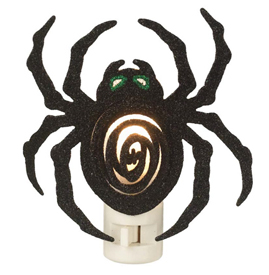 Glittery Spider Night Light